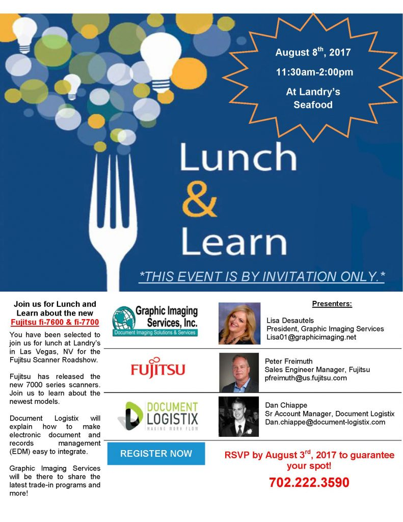 Graphic Imaging | Lunch and Learn – Fujitsu, Document Logistix, and Graphic Imaging Services, Inc.